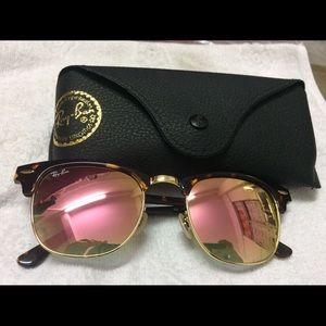 Ray ban rose gold sunglasses